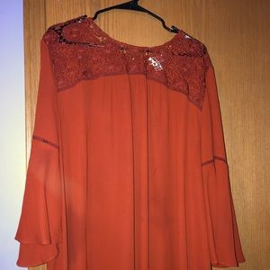 PLUS SIZE Summer Woven/ Lace Top